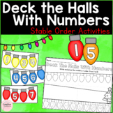 Deck The Halls With Numbers Stable Order Activities (FRENC