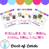 Deck of Card - Articulation Bundle Vocalic /R/, /L/ and /S/