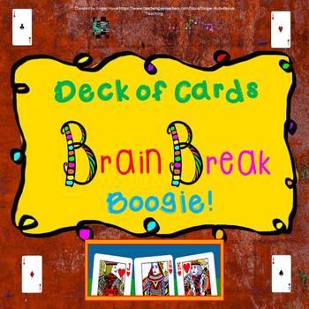 Deck of Cards Brain Break Boogie Power Point