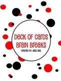 Deck of Cards Brain Breaks