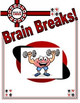Deck of Cards Brain Breaks - Fitness Activities To Get Students Up & Moving!