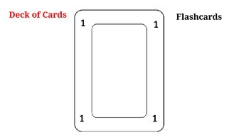 Deck of Cards FLASH CARDS