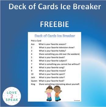 Deck of Cards Ice Breaker