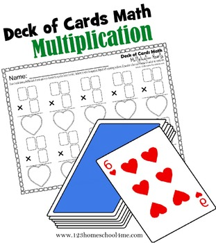 Deck of Cards Math - Multiplication