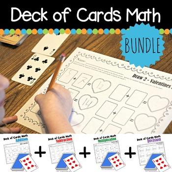 Deck of Cards Math Worksheets BUNDLE