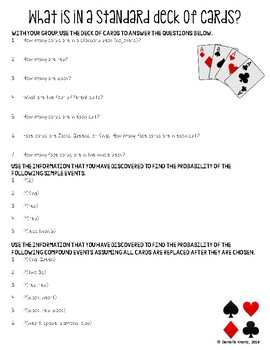 Deck of Playing Cards Scavenger Hunt Activity