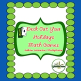 Holiday Gift Math Card Games for Multiplication Addition a