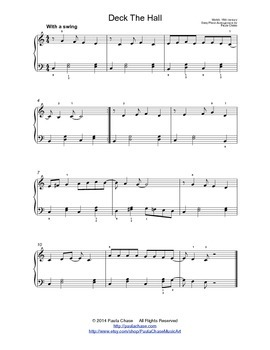 Deck the Hall FUN - Easy Piano