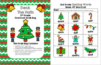 Deck the Halls 2nd Grade Grammar Grab Bag #17