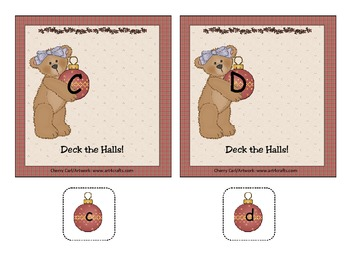 Deck the Halls Christmas Alphabet Match