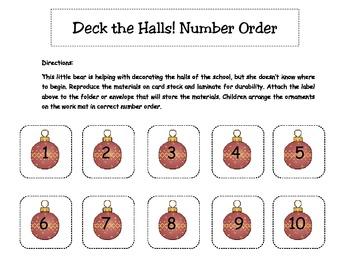 Deck the Halls Christmas Number Order
