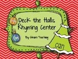 Deck the Halls Rhyming Center {FREEBIE}