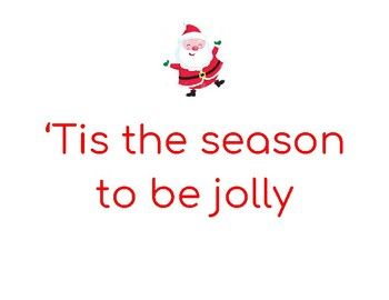 Deck the Halls Signs / Banners For Students to Hold During Christmas Program