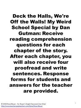 Deck the Halls, We're Off the Walls! Book Unit
