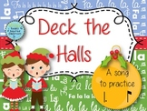 Deck the Halls: a traditional Christmas song for practicing tam ti