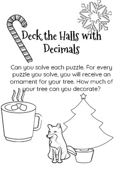 Deck the Halls with Decimals- A Multiplying and Dividing Decimals Review Game