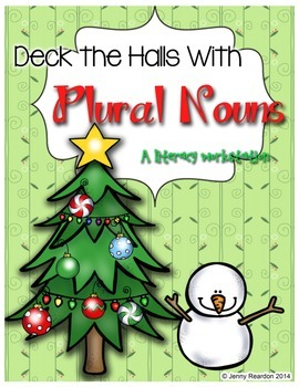 Deck the Halls with Plural Nouns - A Literacy Workstation!