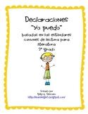 I CAN Statemements ( 3rd grade / literature / Spanish)
