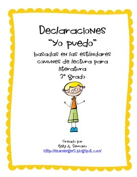 I CAN Statemements ( 3rd grade / literature / Spanish)