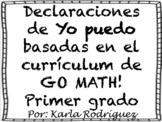 Declaraciones de YO PUEDO de matemáticas