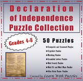 Declaration Independence Puzzle Collection - 42 UNIQUE Puzzles