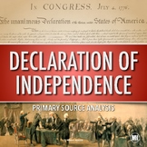 DECLARATION OF INDEPENDENCE Activity: Primary Source Analysis and Questions