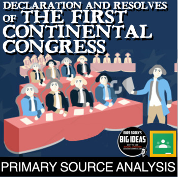 Declaration and Resolves of the First Continental Congress Primary Source Lesson
