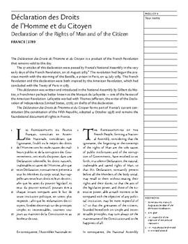 Déclaration des Droits de l'Homme et du Citoyen (France, 1789)