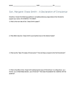 Declaration of Conscience questions