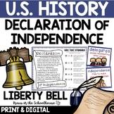 Declaration of Independence Liberty Bell TpT Digital Activ