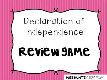 Declaration of Independence Jeopardy