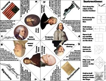 Declaration of Independence Activity: Thomas Jefferson, George Washington