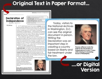 Declaration of Independence: Shared Reading Lesson Plan