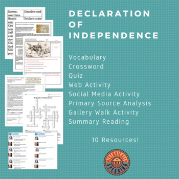 Declaration of Independence:  A Lesson