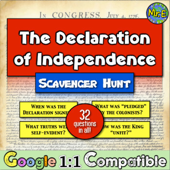 Us history teaching resources lesson plans teachers pay teachers declaration of independence a scavenger hunt students dive into the document fandeluxe Gallery