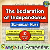 Declaration of Independence American History Scavenger Hunt | Distance Learning