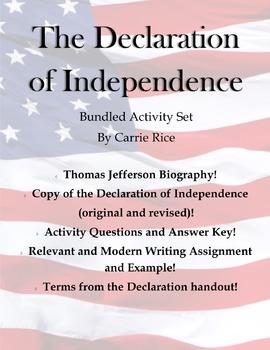 Declaration of Independence Activities Bundle