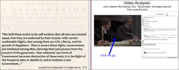 Declaration of Independence Activities: Movie Clips, Close Readings etc