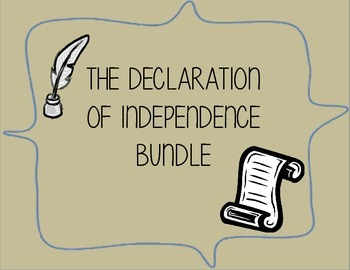 Declaration of Independence Activity Bundle
