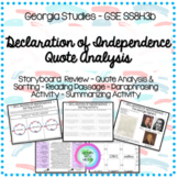 Declaration of Independence Analysis Packet - GSE SS8H3 b