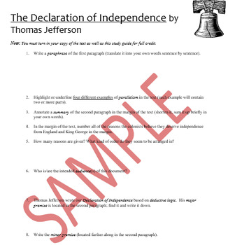 Declaration of Independence Annotation