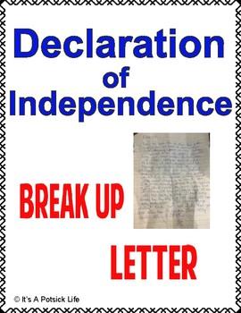 Declaration of Independence Break Up Letter