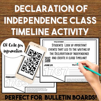 Declaration of Independence Class Timeline Activity