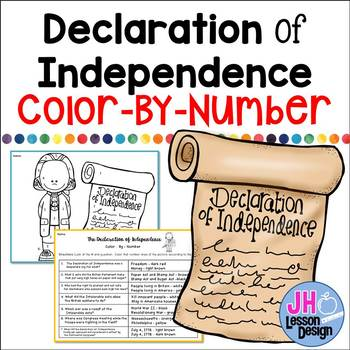 Declaration of Independence Color-By-Number