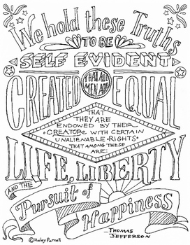 Declaration of Independence Coloring Page