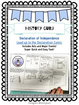 Declaration of Independence Comic Strip