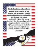 Declaration of Independence Condensed Facts Packet Student Friendly