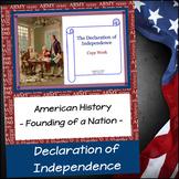 Declaration of Independence Copy Work Unit