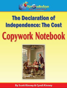 Declaration of Independence Copywork Notebook