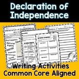 Declaration of Independence Writing